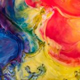 抽象的な水絵具での絵画