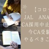 【コロナ】JAL ANA 各社CA採用中止/中断!今CA受験生がやるべきことは?